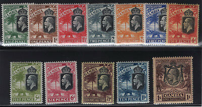 Gambia. SG#122-134. Mint, Lightly Hinged, Very Fine.