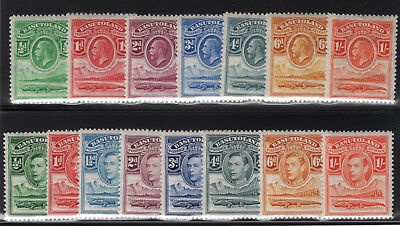 Basutoland. SG#1-7/18-25. Mint, Lightly Hinged, Very Fine.