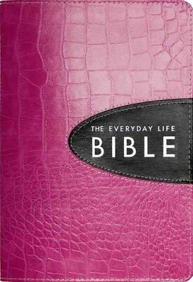 Everyday Life Bible : Pink With Espresso Inset, Ampilified Version, Fashion E...