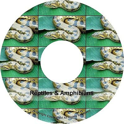 Herpetology Reptiles Amphibians Salamanders Snakes Batrachians Frogs Books on CD