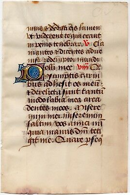 Office of Dead, Job - Illuminated Manuscript Leaf ca. 1465 from a book of hours