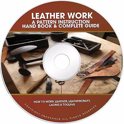 How to Work Leather & Leathercraft Leather Work Lacing Tooling Books on CD
