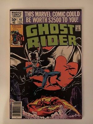 Ghost Rider #48 (1980) Fn/vf Don Perlin Art Marvel