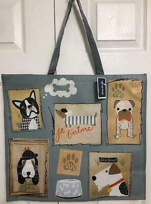 NEW Shopping Bag Reusable Tote French Bulldog Jack Russell Terrier Marshalls