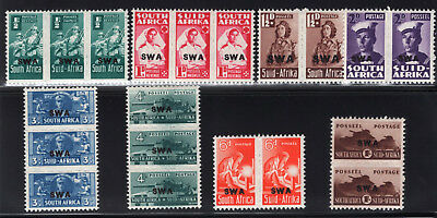 South West Africa. SC#144-51 SG#123-130. Mint, Lightly/Never Hinged, Very Fine.