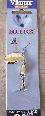 Blue Fox Vibrax Spinner size 2, 6 grams – Gold, Trout Redfin Lure