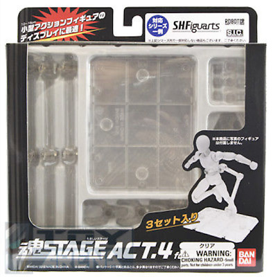Tamashii Stage Act.4 for Humanoid Figure Clear Display Stand 4 Bandai Free Shipp