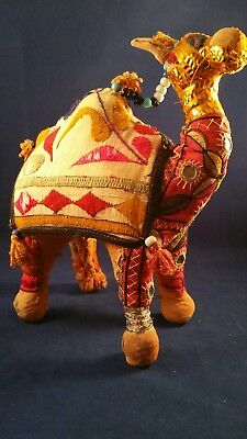 """Vintage  Camel  Embroidered 100% Cotton Handwoven  Stuffed MADE IN INDIA 10 1/2"""""""