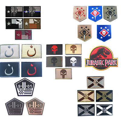 Military Patch Tactical military patch badge for clothes Hook/Loop Multistyles