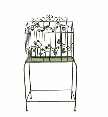 Essential Décor Entrada Collection Metal Bird Cage Stand, 39 by 11 by 19-Inch