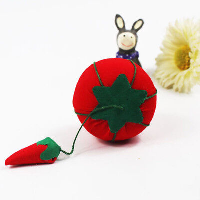 1x Tomato Cross Stitch Needle Sewing Pin Cushion Home Tailor Safety Tool  DIY