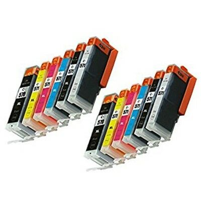 12 Ink Cartridge For Canon Pixma PGI570 CLI-571 TS8050 TS8051 TS8053 MG7753 Grey