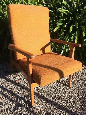 Vintage Retro Reclining Chair In Good Strong Sturdy Condition .