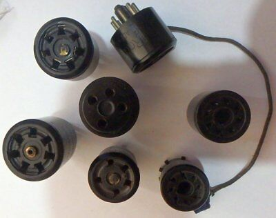 Bakelite valve base adapters Rare as ...........