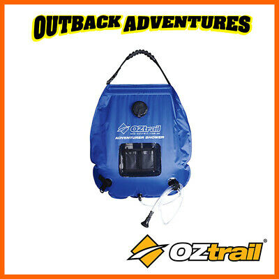 Oztrail 20 Litre Adventurer Solar Shower Camp Camping Hot Water H/duty