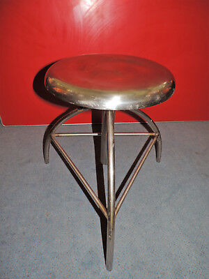 Vintage Industrial Chrome Stool Medical Adjustable Surgical 1920/30s Art Deco