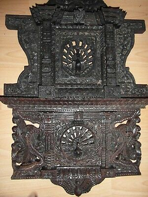 vintage indian hand carved wall plaque