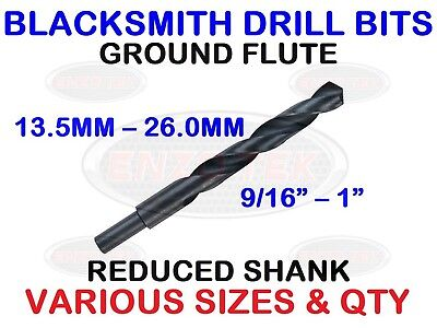 ALL IMPERIAL SIZES! BLACKSMITH REDUCED SHANK DRILLS HSS DRILL BITS