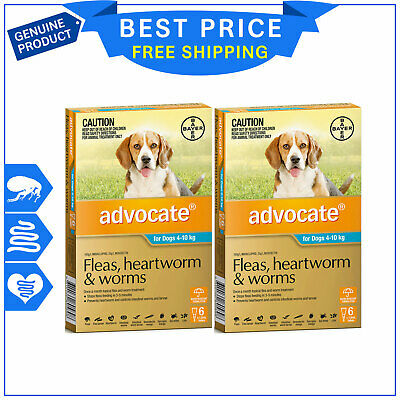 ADVOCATE for Medium Dogs 4 to 10 Kg AQUA Pack 12 Pipettes by Bayer