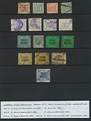 Lot:24169  GB Postal History  Liverpool cotton Association from 1882 to 1888 col