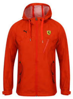 Ferrari Classic Woven Hooded Jacket coat by PUMA. Formula One. Sizes Small to XL