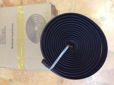 Cable Protection Cover - 9 metre length - Multi Black