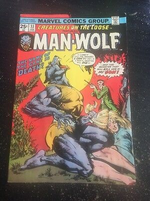 Creatures On The Loose#33 Awesome Condition 5.0(1975) Man-Wolf,George Perez Art!