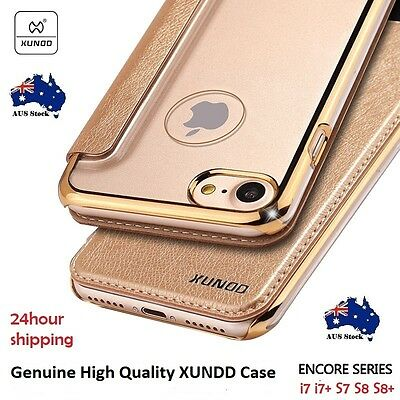 Galaxy S7 S8  S8 plus Note 8 Genuine original XUNDD Encore Leather Cover Case