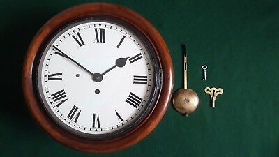 "Antique 10"" Brne 2122 Fusee Railway Clock"
