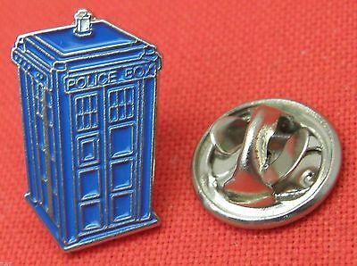 DR WHO TARDIS  PIN 2cms x 1.4 cms approx BUY 2 WE SEND THREE