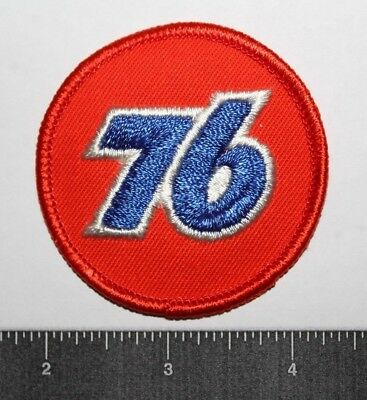 Embroidered 76 Patch Iron-On Orange, Blue ,and White Collectible-Nice!