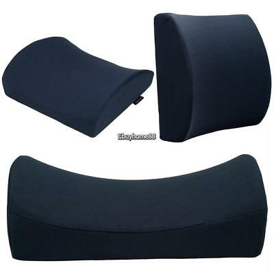 Solid Lumbar Cushion Lower Back pain Travel Pillow Memory Foam Car Seat Home 01