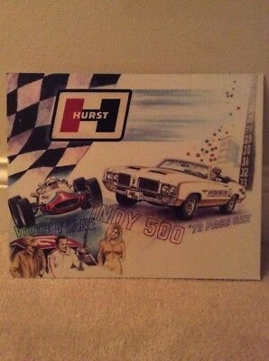 Hurst Cardboard Indy 500 '72 Pace Car Unfinished Poster 13x10.5