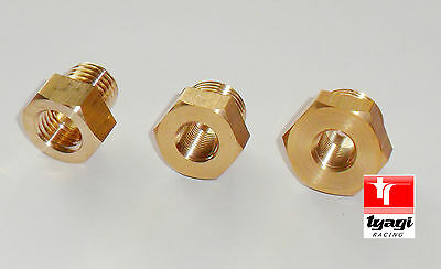 Brass Sump plug Adaptor sensor gauge oil temprature 1/8NPT to M10/M12/M14/M16M18