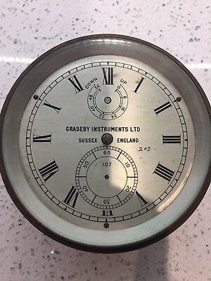 Marine Chronometer Graseby Instruments Incomplete For Spares