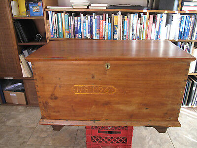 1796 Pennsylvania Antique Blanket Chest American Black Walnut and Pine Secondary