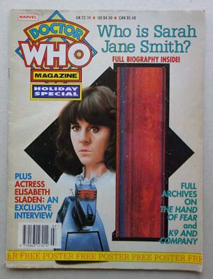 Doctor Who Holiday Special Magazine 1992 + Free Gift Poster GD (phil-comics)