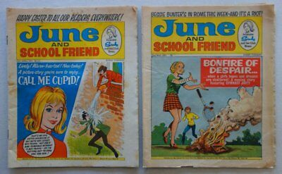 June and School Friend comic 10 Apr (Easter) and 22 May 1971 G/VG (phil-comics)