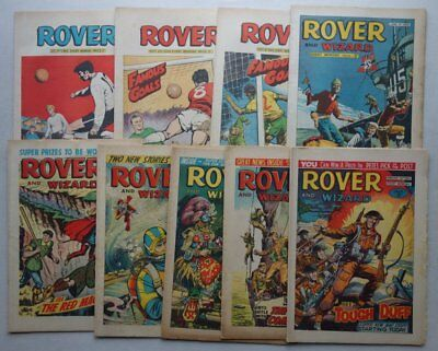 Rover and Wizard comic 1965-1969 x 9 Most VG- (phil-comics)