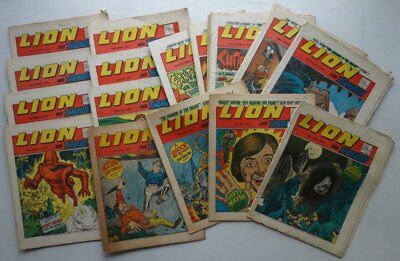 Lion and Thunder comic 1973 x 25 Most GD to VG/Fine (phil-comics)