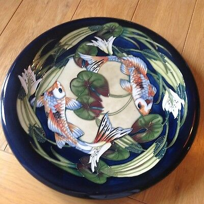 Moorcroft Charger Koi Carp And Water Lillies Seconds