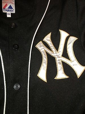 New York Yankees Jersey Majestic Black XS WORN ONCE