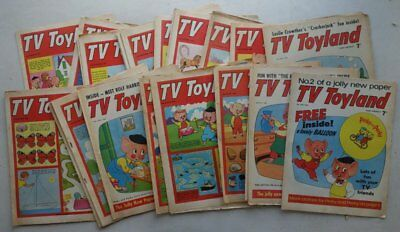 TV Toyland comic 1966 x 23 (4/6 - 31/12) from #2 Most FR, GD, VG (phil-comics)