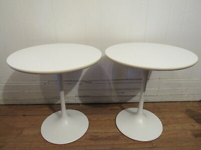 2 vintage 1960s side table pair Saarinen tulip mid centuy modern