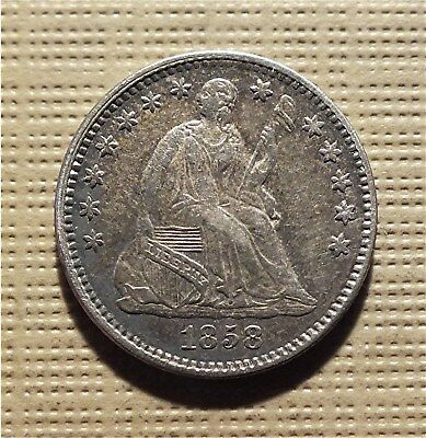 U.s. 1858  'seated Liberty Half Dime' - You Grade-No Reserve. Km#a62.2  Hdrm6