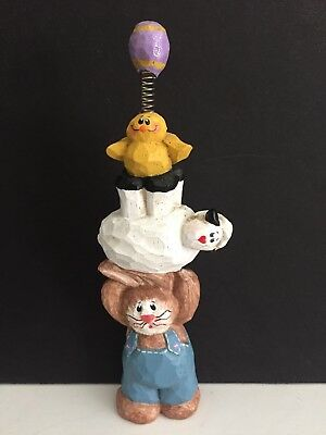 Eddie Walker Bunny Sheep Chick Easter Egg Totem Pole Midwest of Cannon Falls 6.5