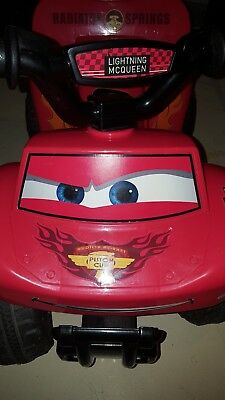 disney cars quad 6 volt battery powered ride on lightning mcqueen