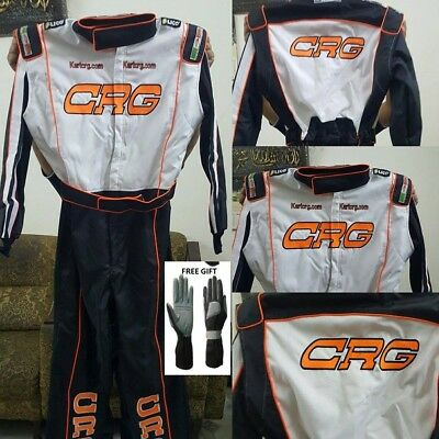 CRG Kart Race Suit CIK FIA Level 2 Approved  with free gift Gloves & Balaclava
