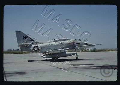 35mm Kodachrome Aircraft Slide - A-4F Skyhawk BuNo 155035 NP581 VA-55 - Apr 1968
