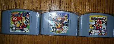 Mario Party lot 1, 2 and 3 for Nintendo 64 N64 (1999-2001) Tested and works 100%
